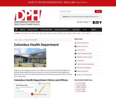 STD Testing at Columbus Health Department