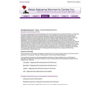 STD Testing at West Alabama Women's Center Inc.