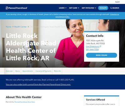 STD Testing at Planned Parenthood - Little Rock Aldersgate Road Health Center of Little Rock, AR