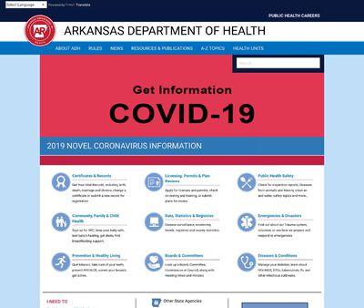 STD Testing at Arkansas Department of Health (Central Public Health Region)