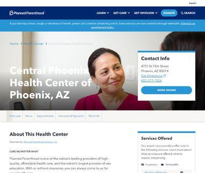 STD Testing at Planned Parenthood – Central Phoenix Health Center OF Phoenix, AZ