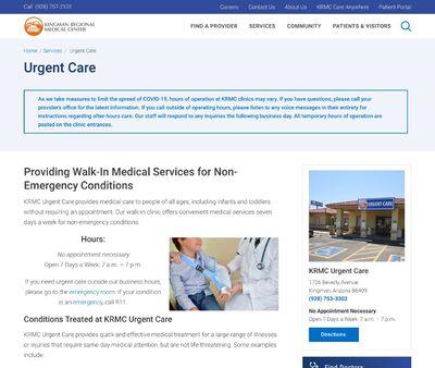 STD Testing at KRMC Urgent Care