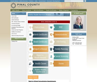 STD Testing at Pinal County Public Health Department - Coolidge Clinic & WIC