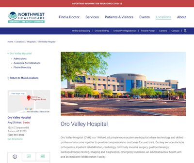 STD Testing at Oro Valley Hospital