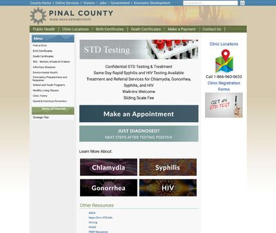 STD Testing at Pinal County Public Health Department - San Tan Valley Clinic & WIC