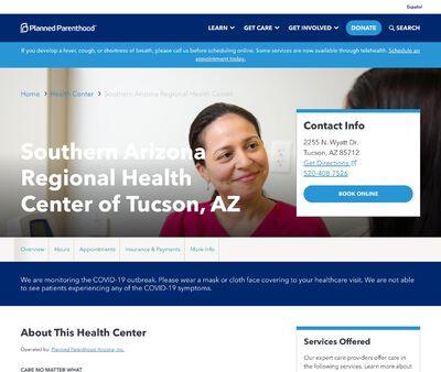 STD Testing at Planned Parenthood South Arizona regional Health Center