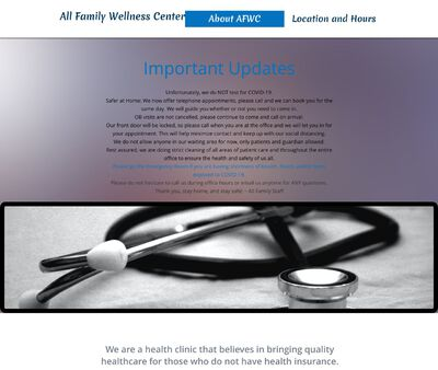 STD Testing at All Family Wellness Center Clinic