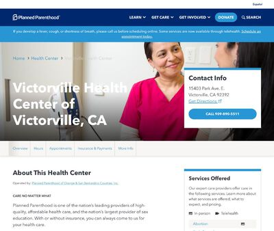 STD Testing at Victorville Health Center of Victorville, CA