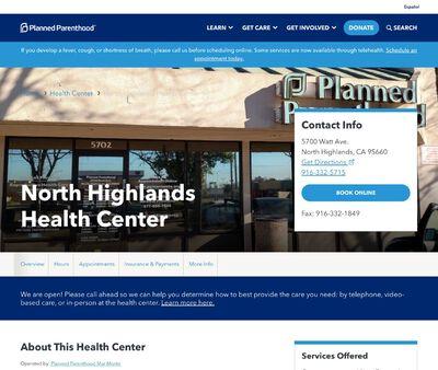 STD Testing at Planned Parenthood - North Highlands Health Center