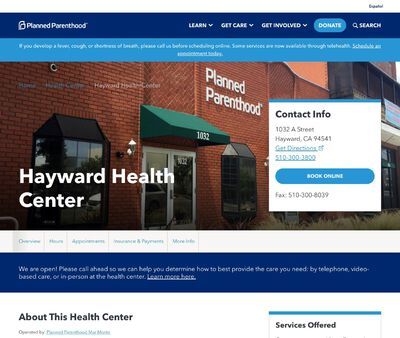 STD Testing at Planned Parenthood - Hayward Health Center