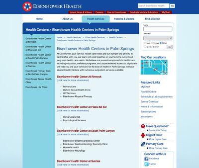 STD Testing at Eisenhower Health Center at Rimrock