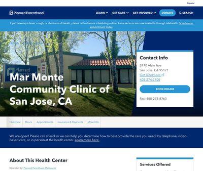 STD Testing at Planned Parenthood Mar Monte (Fulton Street Health Center)