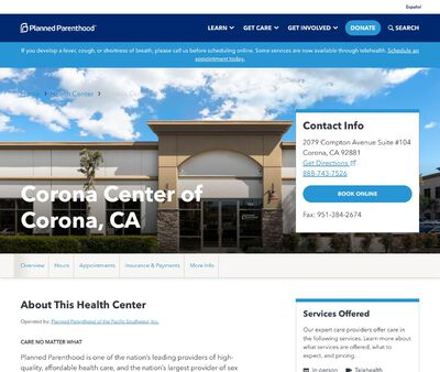 STD Testing at Planned Parenthood - Corona Center