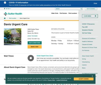 STD Testing at Sutter Urgent Care - Davis