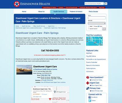 STD Testing at Eisenhower Urgent Care - Palm Springs - Sunrise