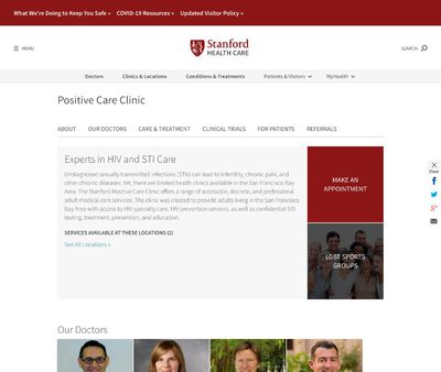 STD Testing at Stanford Positive Care Clinic