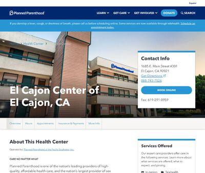 STD Testing at Planned Parenthood - El Cajon Health Center