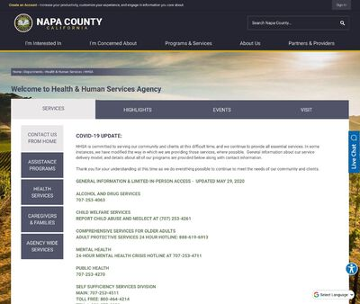 STD Testing at Napa County Health and Human Services Agency (Public Health Division)