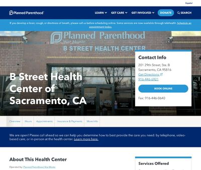STD Testing at Planned Parenthood B Street Health Center
