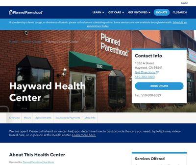 STD Testing at Planned Parenthood - Hayward Health Center