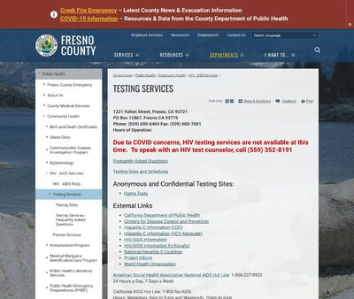 STD Testing at Fresno County Health Department