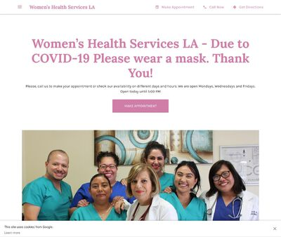 STD Testing at Women's Health Services LA