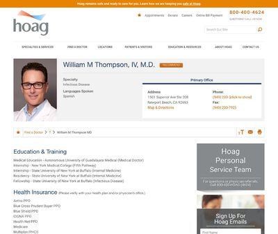 STD Testing at William M Thompson IV MD MA Incorporated
