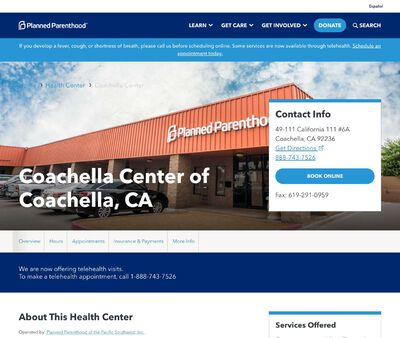STD Testing at Planned Parenthood - Coachella Health Center
