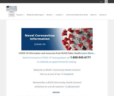 STD Testing at Riverside County Family Care Centers (Jurupa Family Care Center)
