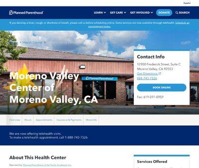 STD Testing at Planned Parenthood - Moreno Valley Center