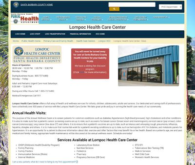 STD Testing at Santa Barbara County Public Health: Lompoc Health Care Center