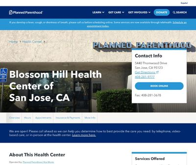 STD Testing at Planned Parenthood - Blossom Hill Health Center