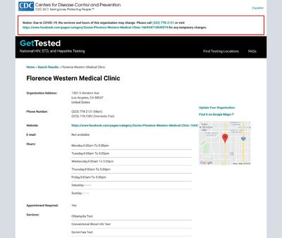STD Testing at Florence Western Medical Clinic