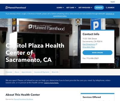 STD Testing at Planned Parenthood Mar Monte (Capitol Plaza Health Center)