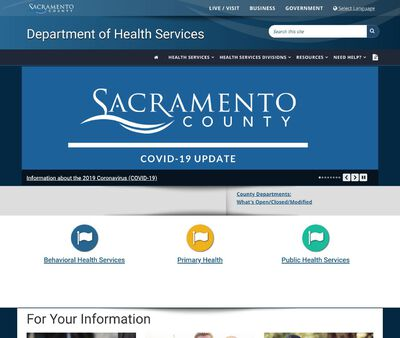 STD Testing at Sacramento County Department of Health and Human Services