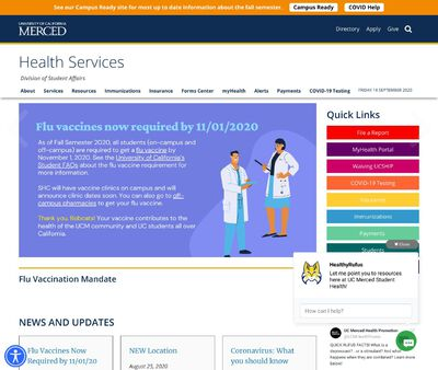 STD Testing at UC Merced Health Services