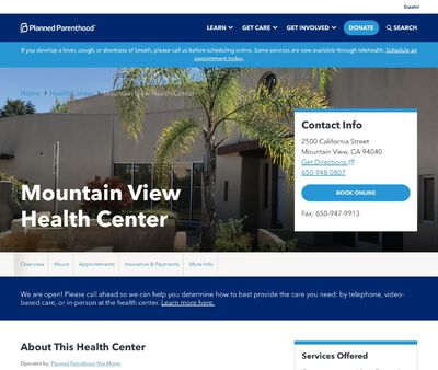 STD Testing at Planned Parenthood Mare Monte Mountain View Health Centre