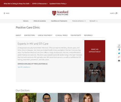 STD Testing at Stanford University Medical Centre