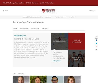 STD Testing at Stanford University Medical Center Positive Care Clinic