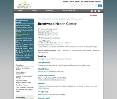 STD Testing at Brentwood Health Center - Contra Costa Health Services
