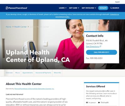 STD Testing at Planned Parenthood - Upland Health Center