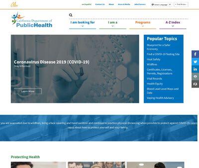 STD Testing at California Department of Public Health