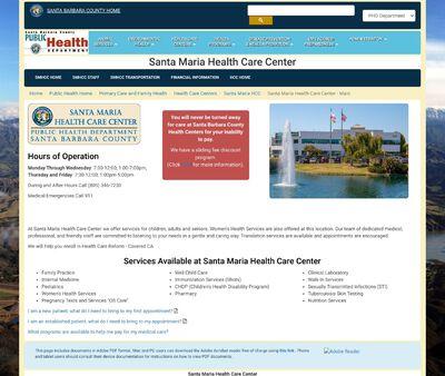 STD Testing at Santa Barbara County Public Health: Santa Maria Health Care Center