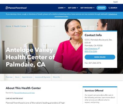 STD Testing at Planned Parenthood Los Angeles (Antelope Valley Health Center)