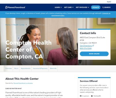 STD Testing at Planned Parenthood - Compton Health Center