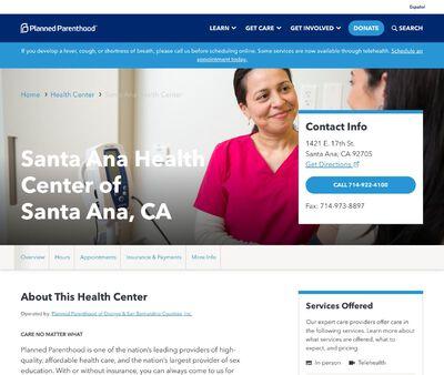 STD Testing at Planned Parenthood – Santa Ana Health Center of Santa Ana, CA