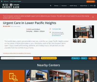 STD Testing at GoHealth Urgent Care Lower Pacific Heights