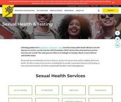 STD Testing at San Francisco AIDS Foundation