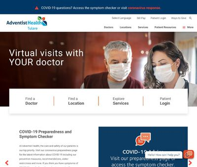 STD Testing at TulareRegional Health Care Center - Adventist Health