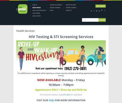 STD Testing at LGBTQ Center of Long Beach